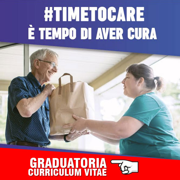 Graduatoria Curriculum Vitae Progetto Time To Care banner